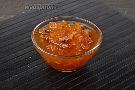 Варенье из тыквы и орехов готово. Для хранения готовое кипящее варенье расфасовать по сухим стерилизованным банкам.