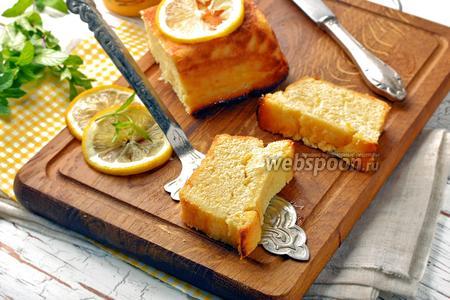 Творожная запеканка с лимоном