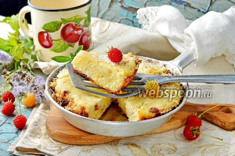 Фото Запеканка из творога на сковороде