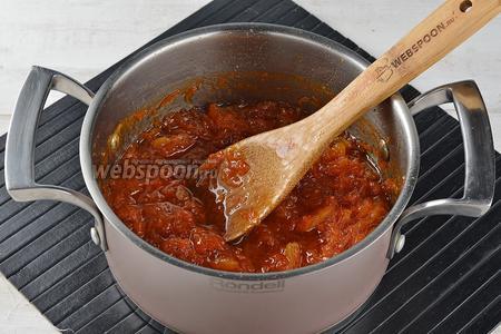Перемешать и готовить ещё 10-12 минут.