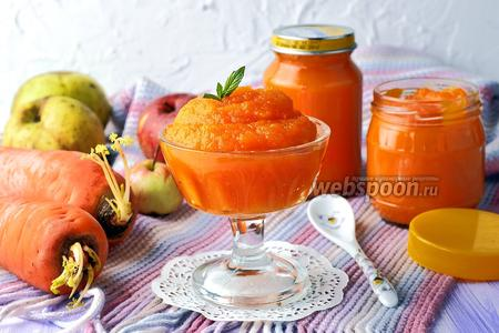 Пюре из яблок и моркови для детей
