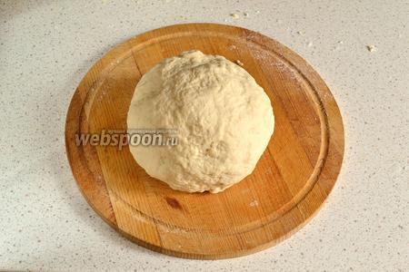 Вымешивать тесто минут 5, потом положить в миску и закрыть плёнкой. Оставить подниматься тесто примерно на 1 час. У меня тесто хорошо поднялось за 40 минут.