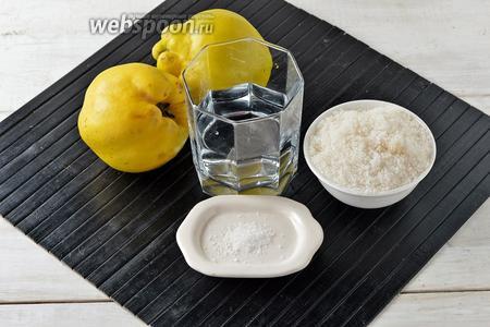 Для работы нам понадобится айва, сахар, вода, лимонная кислота.