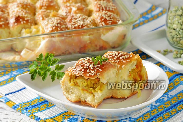 Фото Пирожки с горохом в духовке