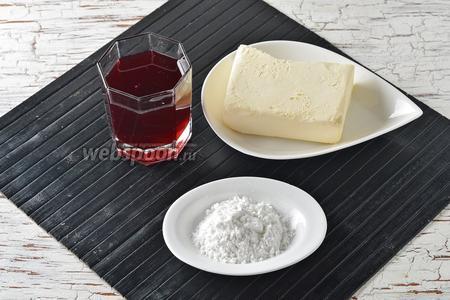 Для работы нам понадобится вишнёвый сок (сладкий), сливочное масло и порошок ванильного пудинга (40 г в 1 пачке).