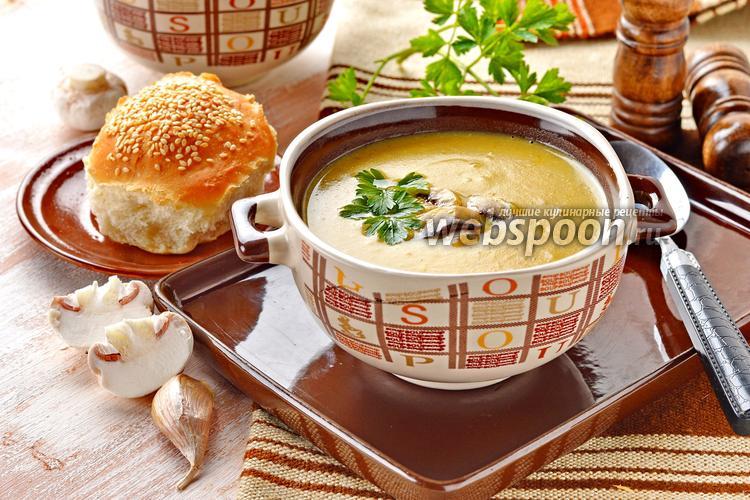 Фото Суп картофельный с грибами