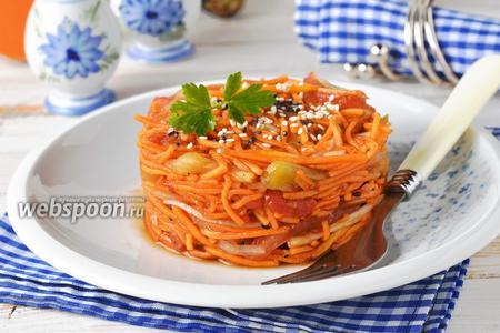 Салат из тыквы и баклажан