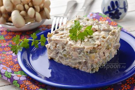 Салат с вёшенками и курицей