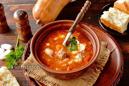 Суп из фасоли и тыквы