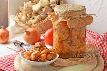 Фасоль с грибами на зиму