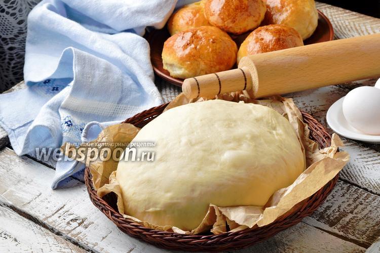 Фото Дрожжевое тесто на простокваше
