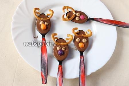 Десерт шоколадная ложка готова, подаём сразу или убираем в холодильник до прихода гостей.