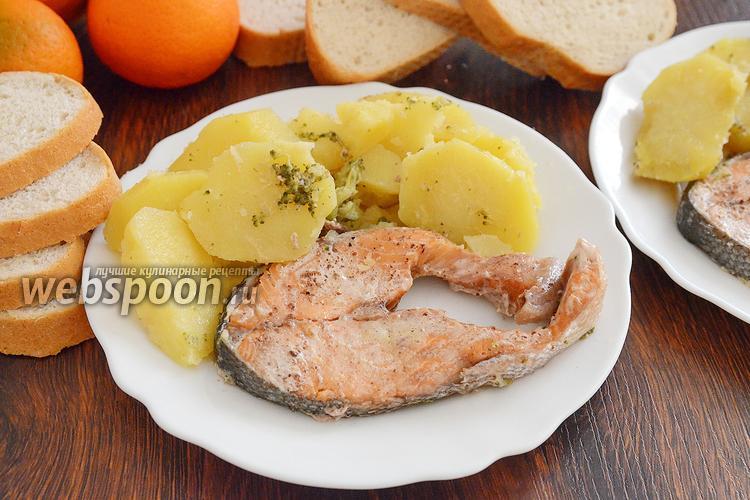 Фото Кета в духовке с картошкой