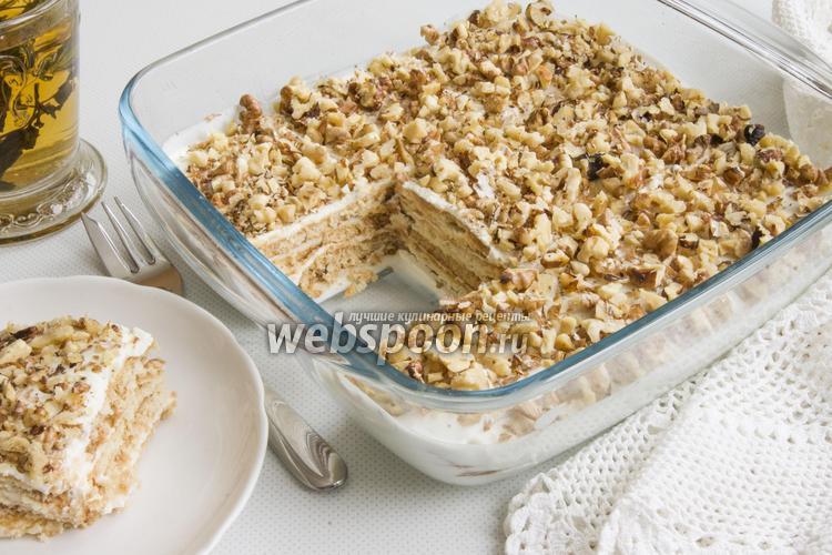 Фото Десерт из сметаны и печенья
