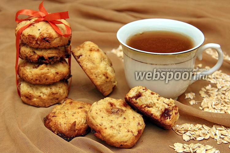 Фото Овсяное печенье с шоколадом