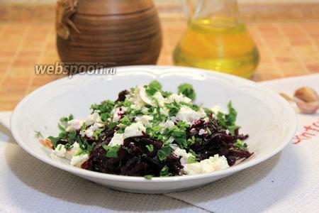 Салат из свёклы с фетой