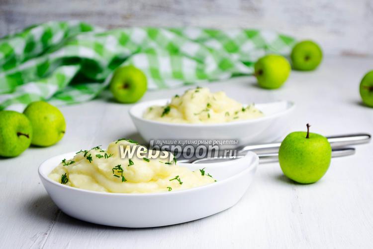 Фото Картофельное пюре с яблоком