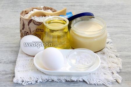 Необходимы яйца, сода, мука, рафинированное масло, сгущённое молоко (у меня по рецепту «Домашняя сгущёнка за 15 минут», за что большое спасибо inelli).