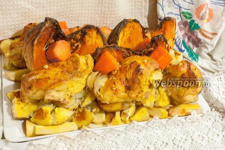 Жаркое из цыплят с тыквой