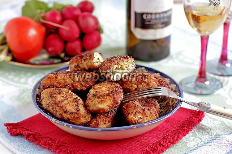 Фото Куриные котлеты с сыром и яйцом