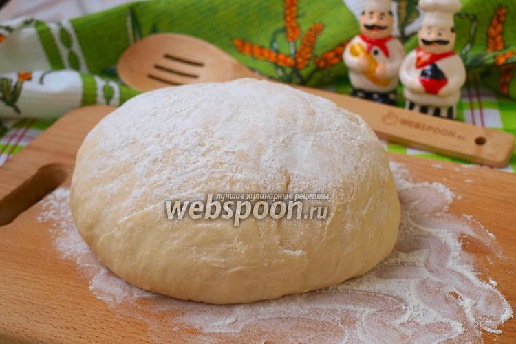 Фото Тесто для пиццы на кефире