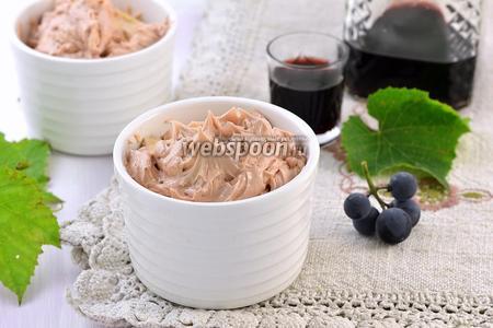 Крем с красным вином