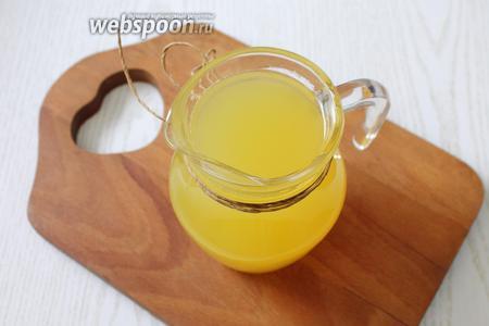 Наш апельсиновый морс готов. Приятного аппетита!