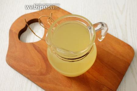 Наш лимонный морс готов. Приятного аппетита!