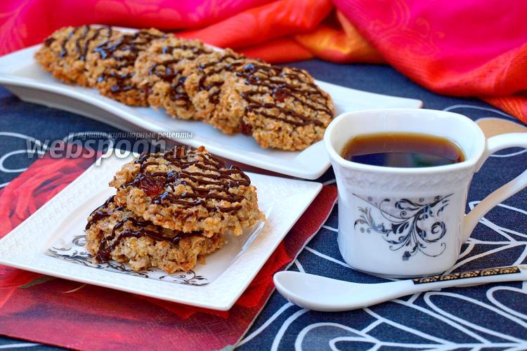 Фото Диетическое овсяное печенье без муки