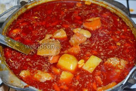 Супчик готов! Скажу вам честно, что суп вкуснее, если немного отстоится, хотя бы 1-2 часа, но это нереально, так как никто не может удержаться перед такой вкуснятиной. Приятного вам аппетита!