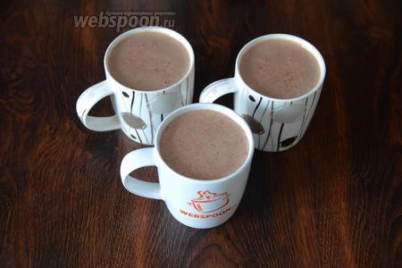 После чего напиток можно разливать по кружкам и пить как в горячем, так и тёплом виде.