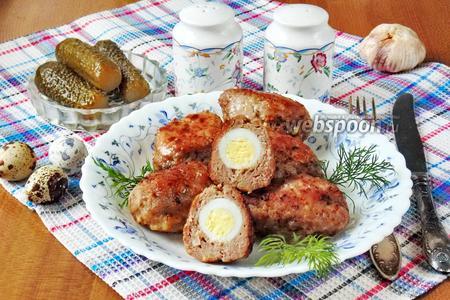 Котлеты с перепелиными яйцами