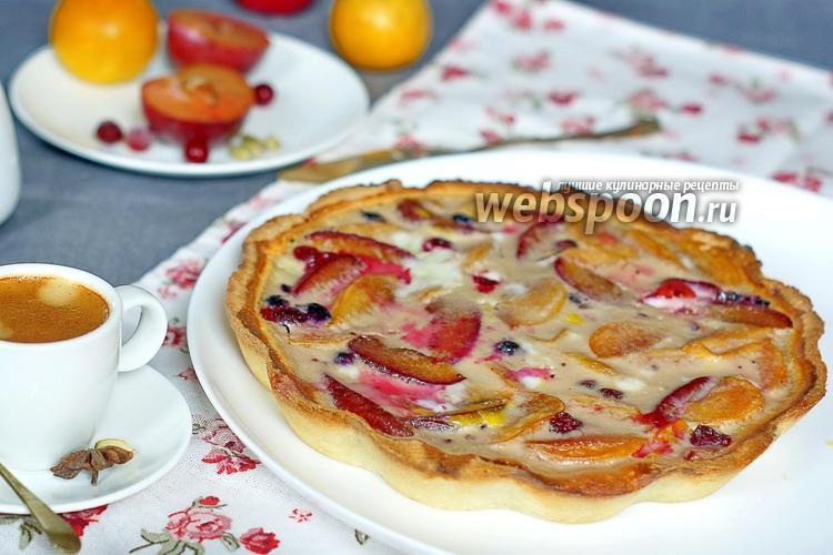 Пирог с замороженными сливами рецепт