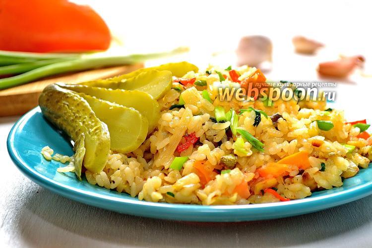Фото Постный плов с овощами