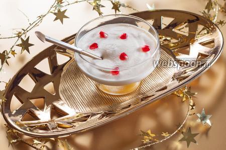 Яичный крем-десерт с маракуйей
