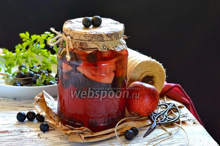 Фото Компот из тёрна и яблок на зиму