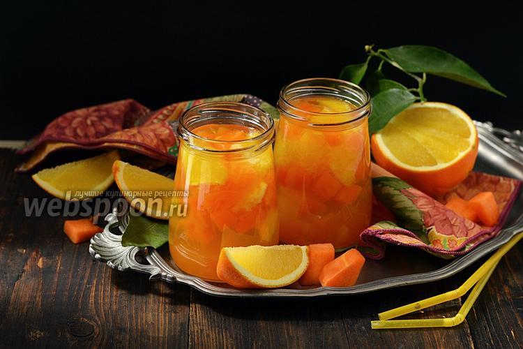 Фото Компот из тыквы с апельсином на зиму