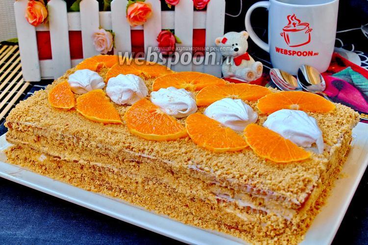 торт без выпечки рецепт с фото из печенья с бананом на скорую руку