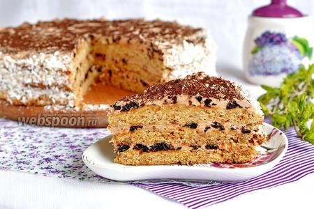 Песочный торт с черносливом