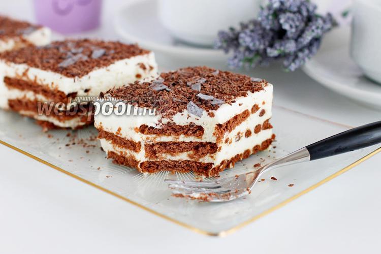 торт домик из печенья и творога без выпечки фото рецепт
