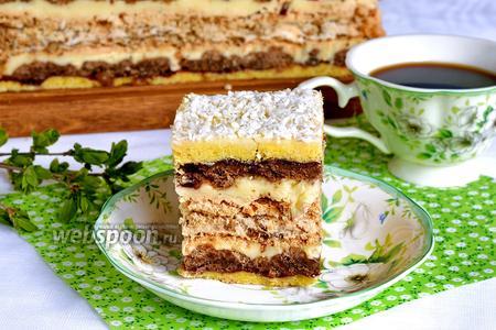 Песочный торт с безе