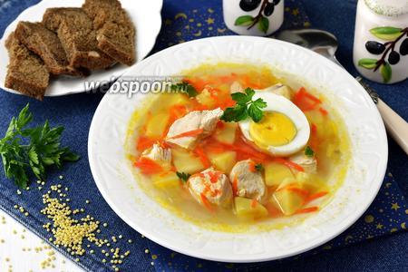 Суп пшенный с яйцом