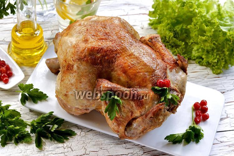 Фото Целая курица в мультиварке
