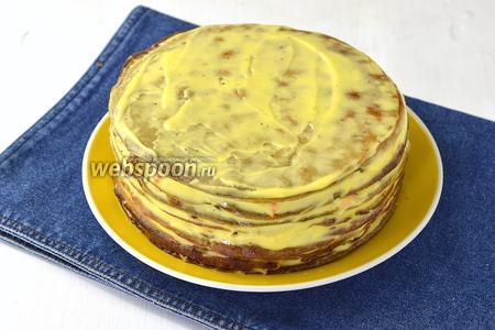 Печёночный торт из говяжьей печени готов.