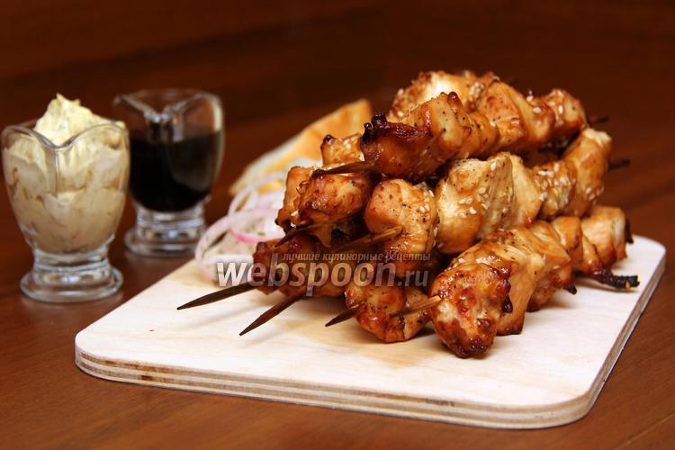 Фото Шашлык из филе курицы в духовке