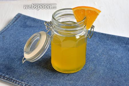 Апельсиновая пропитка готова.