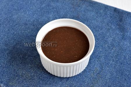 Шоколадная глазурь из сгущёнки готова.