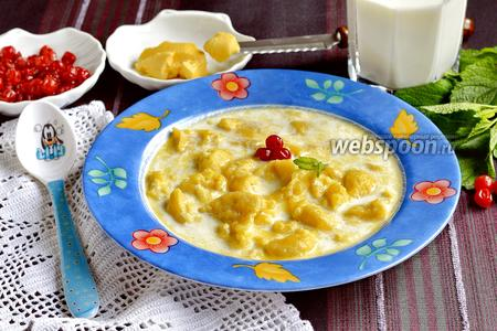 Молочный суп с клёцками