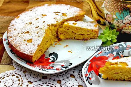 Итальянский пирог с яблоками и персиками