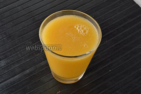 Лимонад из персиков готов.